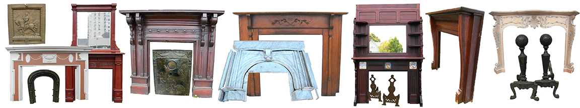 Antique Fireplace Andirons & Tools