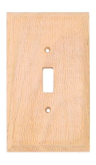Unfinished Solid Oak Switchplates