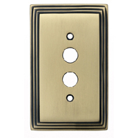 Deco Antique Brass Forged Switchplates