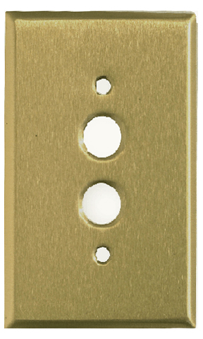 Satin Brass Stamped Switchplates