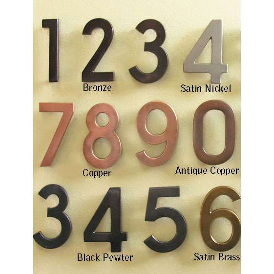 Historic Houseparts Inc House Numbers Letters Architectural Solid Brass House Numbers Multiple Finishes Rear Mount