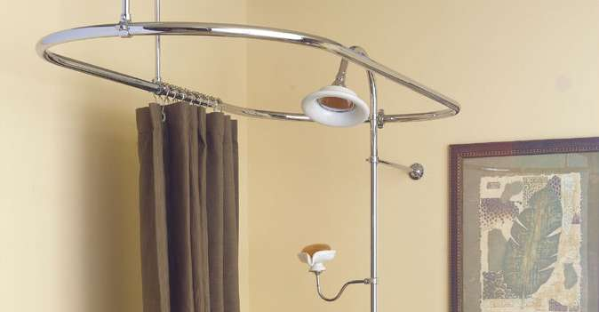 Oval Shower Curtain Ring Or Enclosure