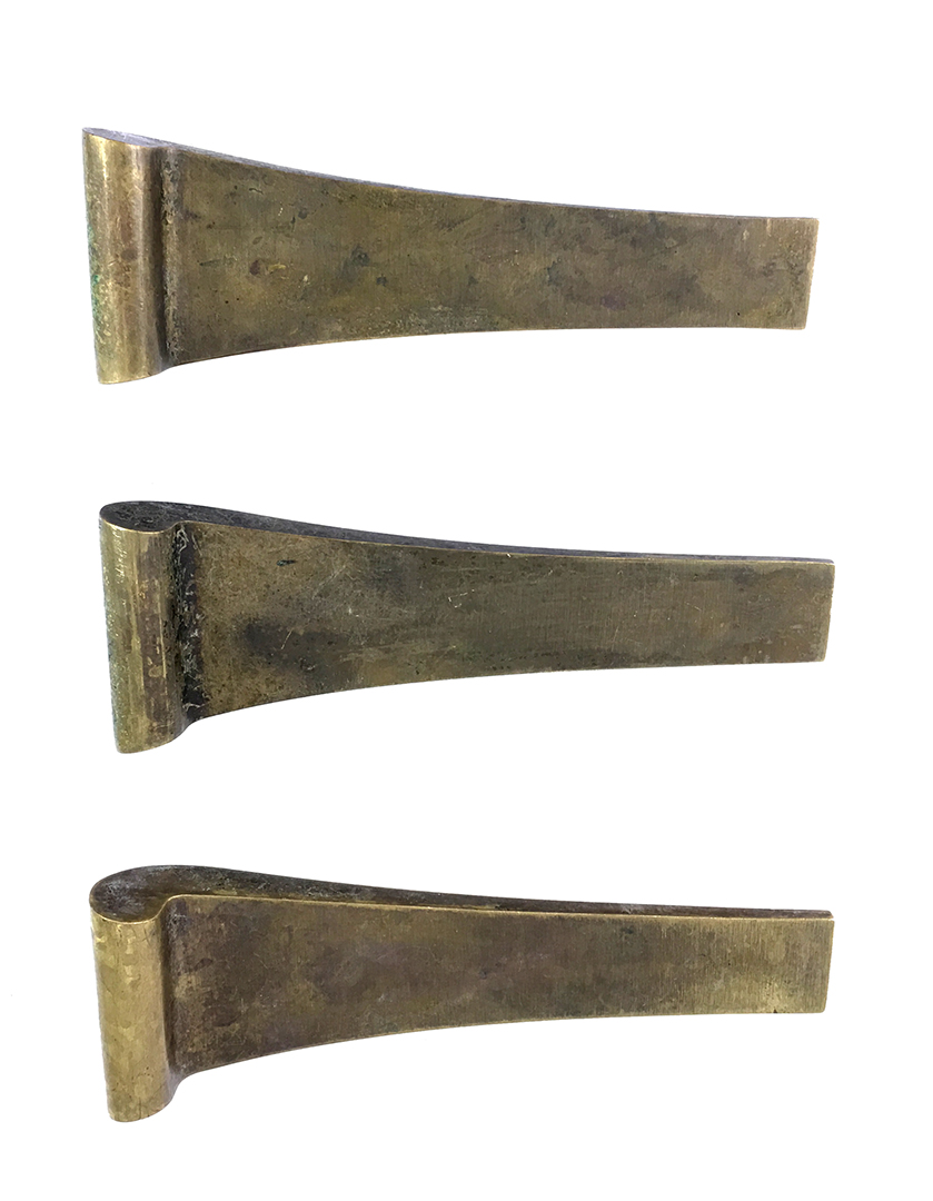 Image of: Historic Houseparts Inc Antique Drawer Pulls Set Of Three Oversized Mid Century Modern Curved Drawer Pulls