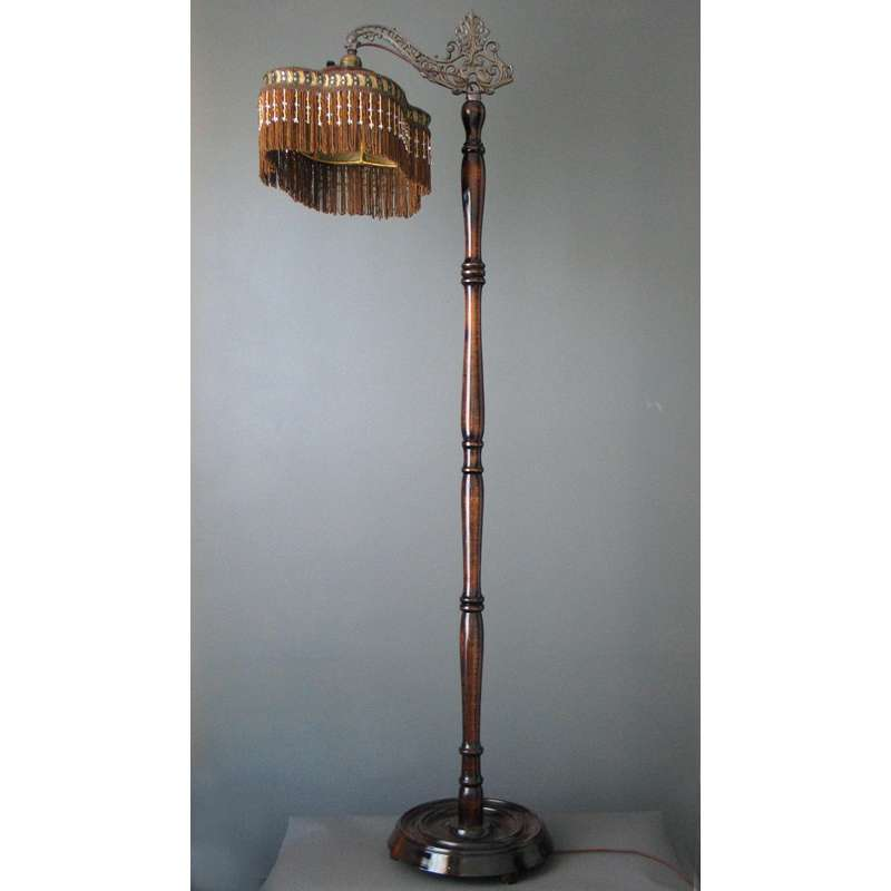 Antique Victorian Bridge Floor Lamp