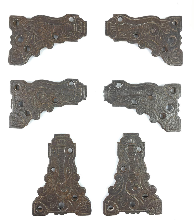 Repurpose Iron Brackets Set of 2 Vintage Iron Hardware Brackets