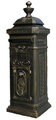 Victorian Tower Column Front & Rear Access Locking Mailbox - Bronze Finish