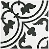 "Arte White 9-3/4""x 9-3/4"" Porcelain Tile - White/Black - Per Case- .94 Square Feet"