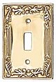 Victorian Brass Switchplates, 60 gauge Lacquered Brass