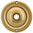 Beaded Doorknob Rosette, Polished Lacquered Brass