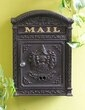 Classic Mailbox with Lock, Black