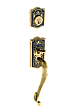 Meadows Complete Exterior and Interior Handleset With Deadbolt - Multiple Finish and Interior Knob Options - S Grip