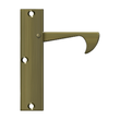 "Solid Brass Pocket or Sliding Door Edge Pull -  4-1/4"" - Multiple Finishes"