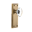 Grandeur Complete Door Set - Featuring Fifth Avenue Plate and Provence Crystal Knob