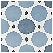 "Caprice Colours Sapphire 7-7/8"" x 7-7/8"" Porcelain Tile - Blue/Black - Per Case of 25 - 11.46 Square Feet"