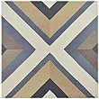 "Caprice Colors Square 7-7/8"" x 7-7/8"" Porcelain Tile - Blue/Gold/Taupe- Per Case of 25 - 11.46 Square Feet"