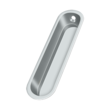 "Solid Brass Oblong Pocket or Sliding Door or Window Flush Pull - 4"" - Many Finishes Available"
