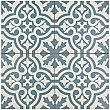 "Berkeley Blue 17-5/8""x 17-5/8"" Ceramic Tile - Blue & White - Per Case - 11.10 Square Feet"