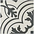 "Twenties Vintage 7-3/4"" x 7-3/4"" Ceramic Tile in Deep Grey & White - Sold Per Tile - .42 Square Feet Per Tile"