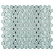 "Tribeca 1"" Hex Glossy Gray Mist Porcelain Mosaic Tile - Sold Per Case of 10 Sheets - 8.65 Square Feet Per Case"