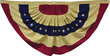 "American Flag Bunting - Aged Color - Large 55"" Wide"