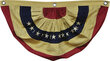 "American Flag Bunting - Aged Color - Small 30"" Wide"