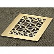 "Solid Brass Scroll Design Register or Heat Grate - 6"" x 12"" Duct Size"