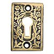 Daisy Keyhole Cover, Antique Brass