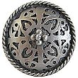 Moroccan Jewel Knob, Antique Pewter