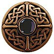 Celtic & Onyx Knob, Antique Copper