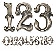 Alhambra House Numbers - Pewter