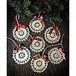 Antique Repurposed Crochet Doily Holiday Ornament
