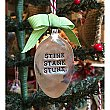 Vintage Silverplate Spoon Holiday Ornament - Stink Stank Stunk