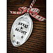 Vintage Silverplate Spoon Holiday Ornament - Merry & Bright