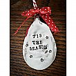 Vintage Silverplate Spoon Holiday Ornament - Tis the Season
