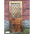 Antique Oak Leaded Glass Exterior Door