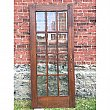 Antique Oak Beveled Glass French Door