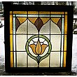 Antique Floral Stained Glass Window