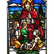 Antique Ecclesiastical Stained Glass Window