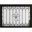 Antique Fleur de Lis Leaded Glass Window