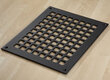 "Square Grid Design Heat Grate or Register, 6 Finishes Available, 8"" x 8"" Duct Size"