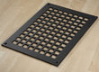 "Square Grid Design Heat Grate or Register, 6 Finishes Available, 8"" x 12"" Duct Size"