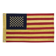 "American Flag - Aged Antiqued - 28"" Wide"