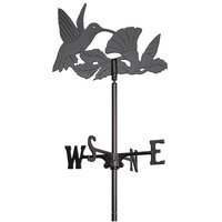Garden Hummingbird Weathervane - Black Finish