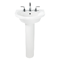 "American Standard Tropic Pedestal Sink - 4"" Centers - White"