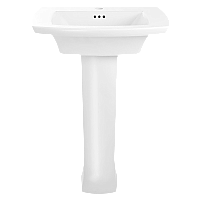 American Standard Edgemere Pedestal Sink - Single Hole