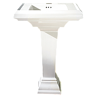 "American Standard Town Square 24"" Pedestal Sink-White"