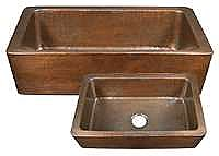 Hand Hammered Copper Farmhouse Sink
