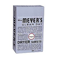 Mrs. Meyers Dryer Sheets- Lavender