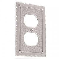 Pewter Arts & Crafts Switchplate - Single Duplex