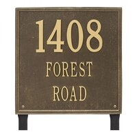 Square Estate Lawn Address Plaque